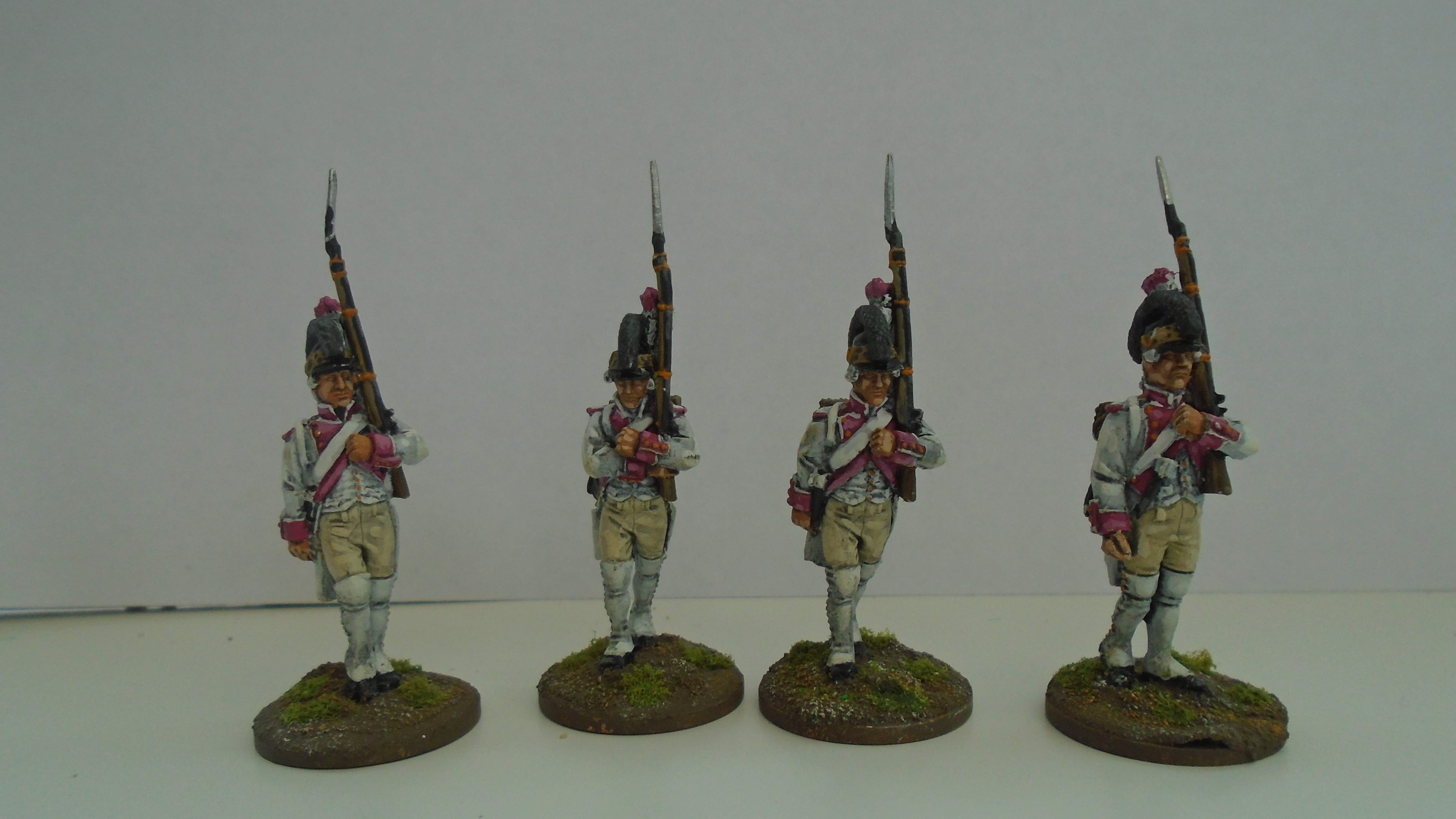 Infantry marching  Casquette Soldiers of the Ancien Régime