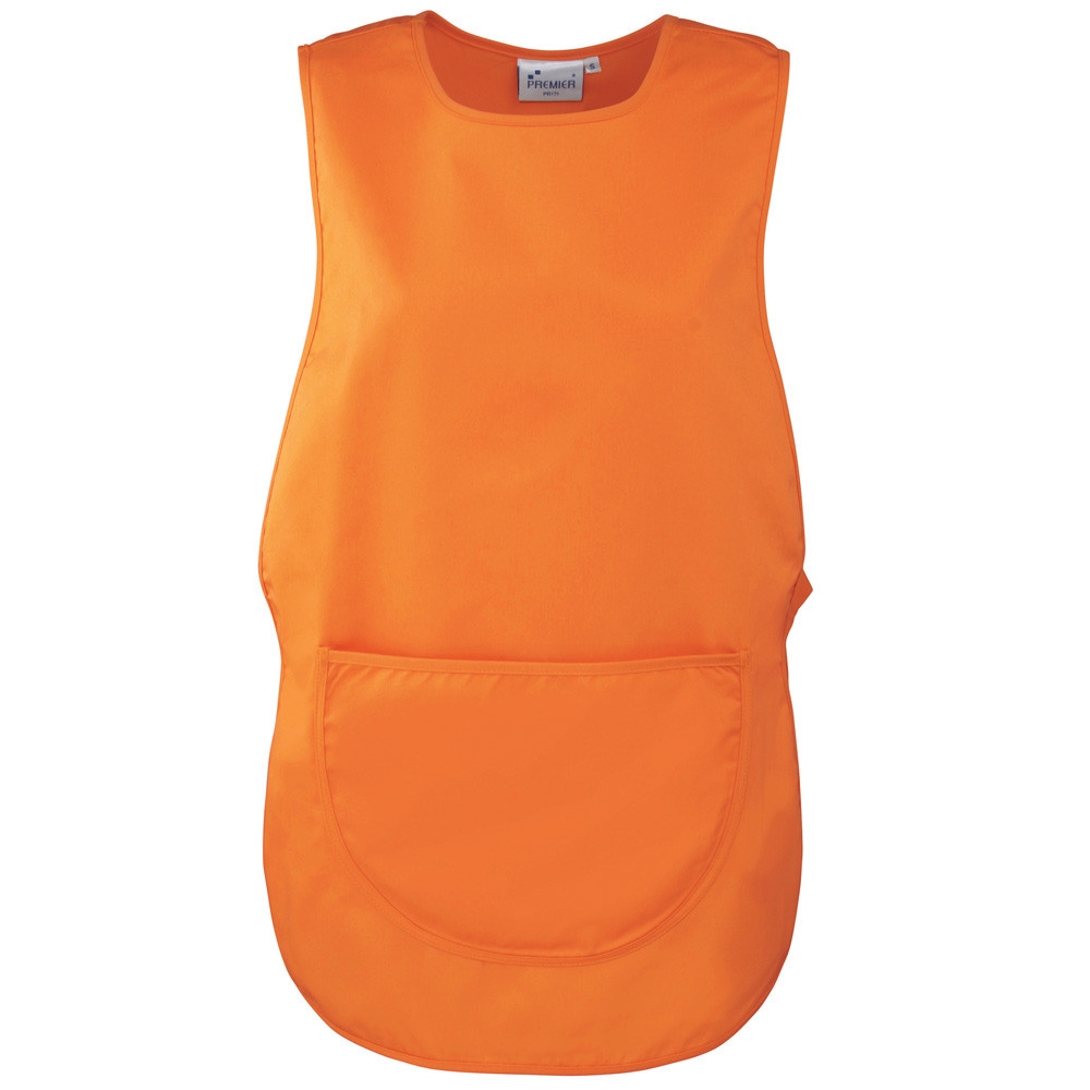 Orange Polycotton Tabard with Pocket.