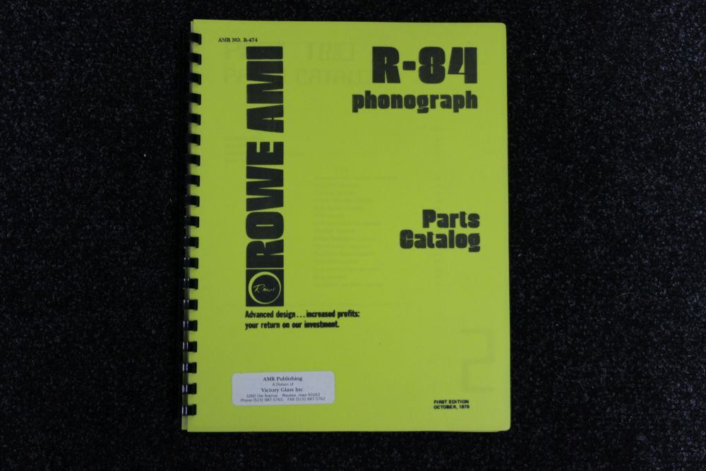 Rowe AMI - Parts Catalog - Model R-84