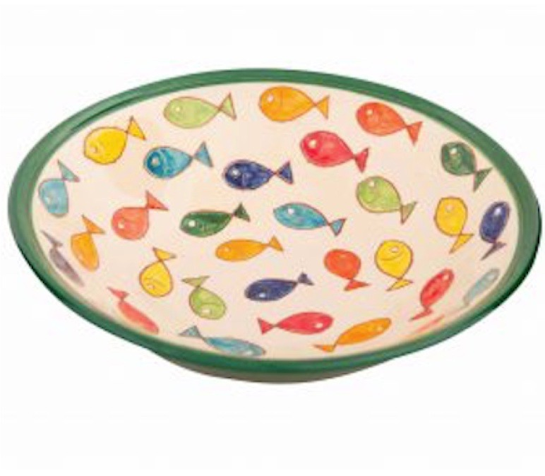 Pasta Bowl from Coloured Fish Range of Spanish Ceramics