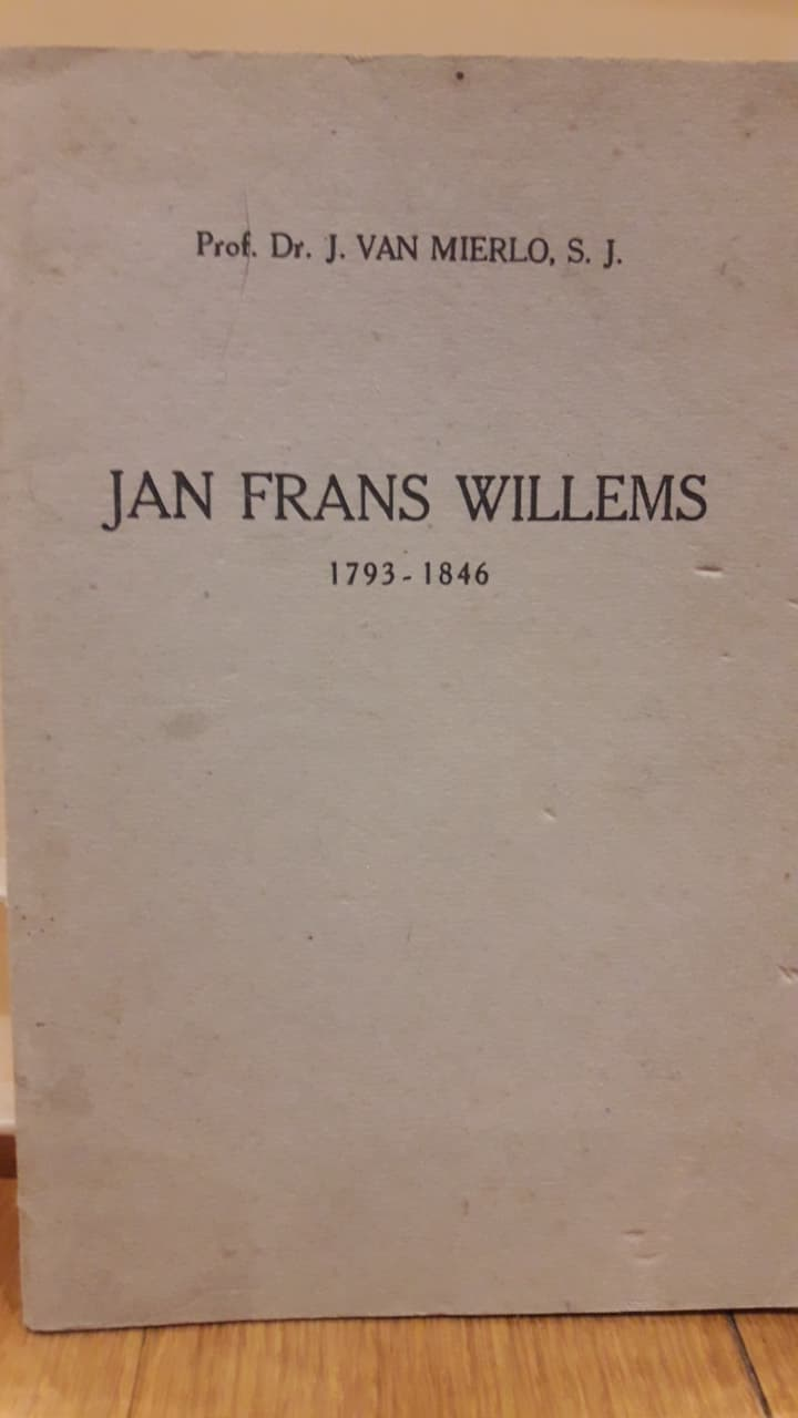 Brochure Jan Frans Willems 1793 - 1846