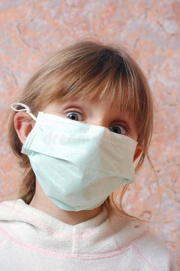 Girl wearing a face maskjpg