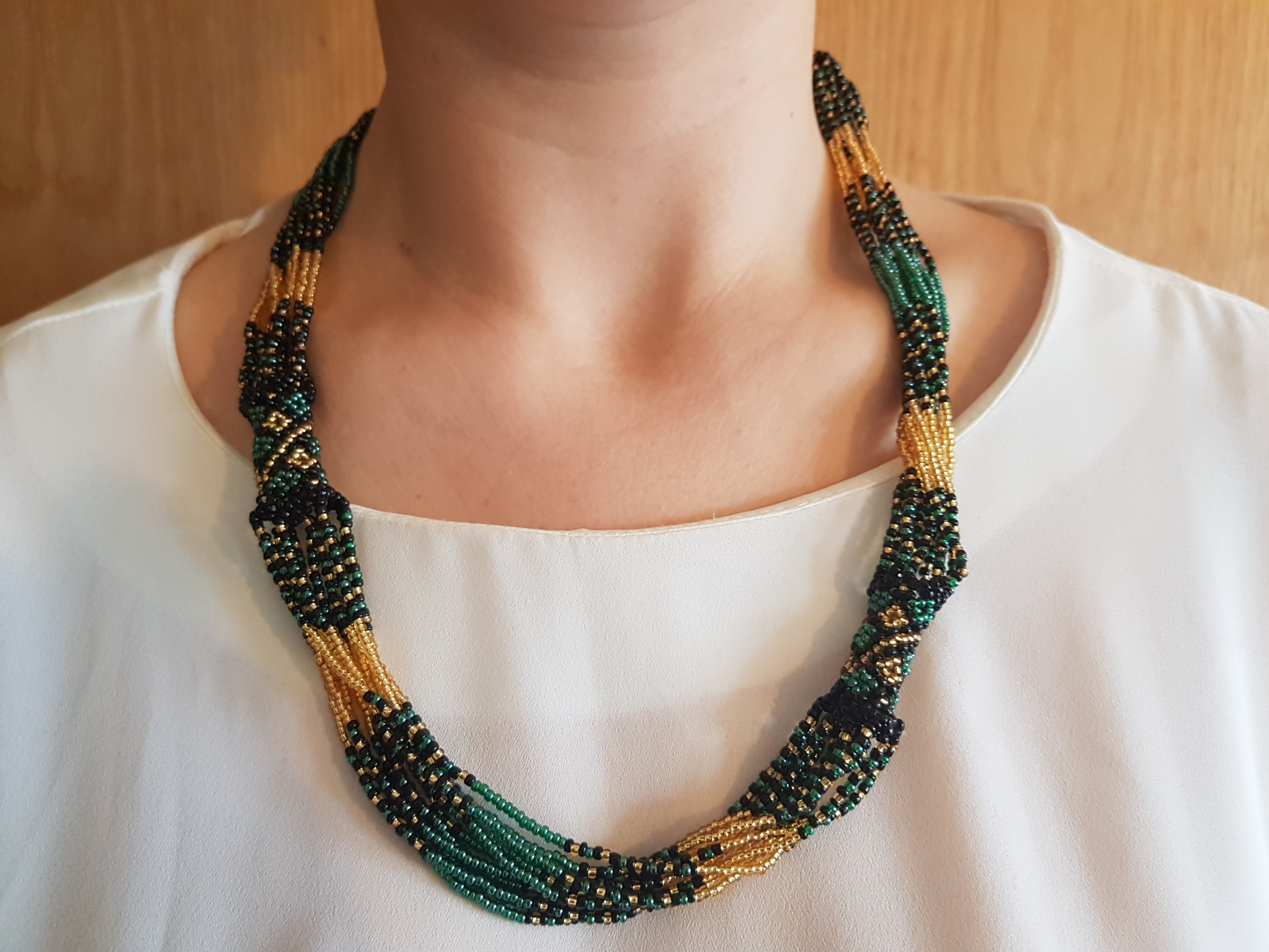 African Beaded Necklace Mvovo