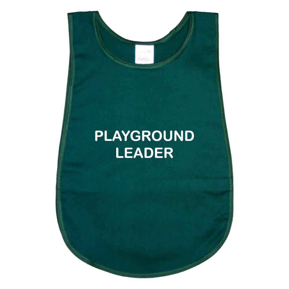 Bell Shape Bottle Green Poly-cotton Child's Tabard. Printed Playground Leader.
