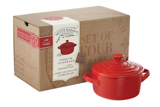 Cocotte Set in Red (Set of 4)