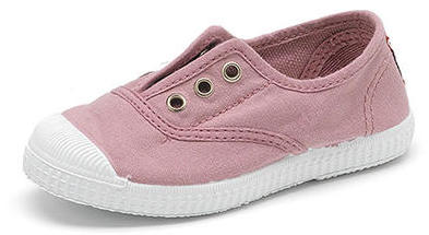 Girls pink lace up sneaker plimsolls