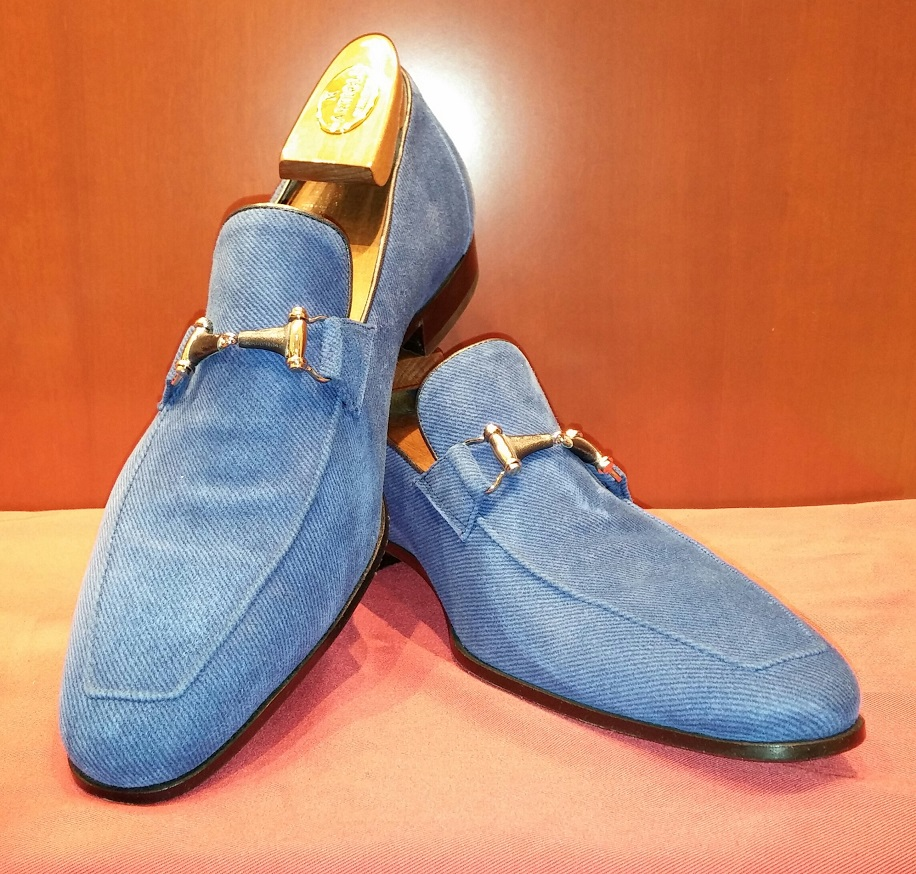 Loafer Model 537 Blue Suede