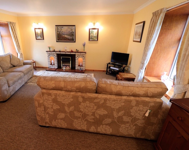 The lounge at East Challoch Farm B&B Dunragit, Stranraer