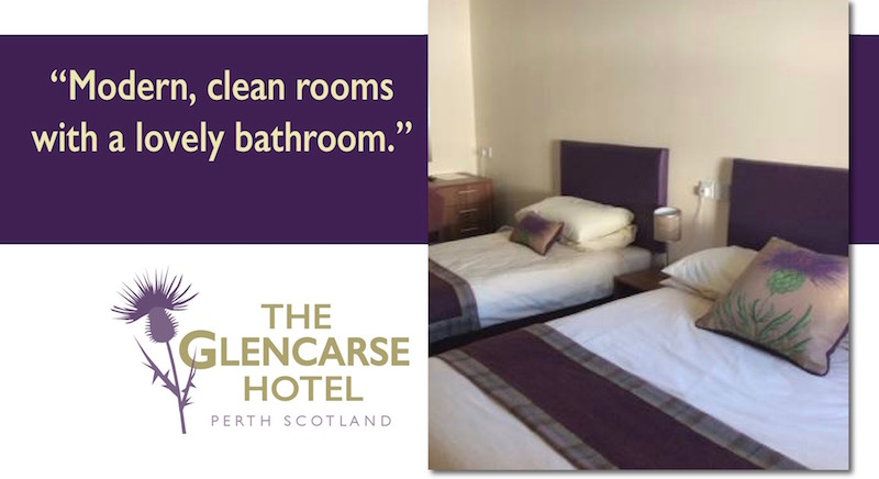 Glencarse Hotel near Perth, Scotland offers comfortable and competitively priced bed and breakfast accommodation