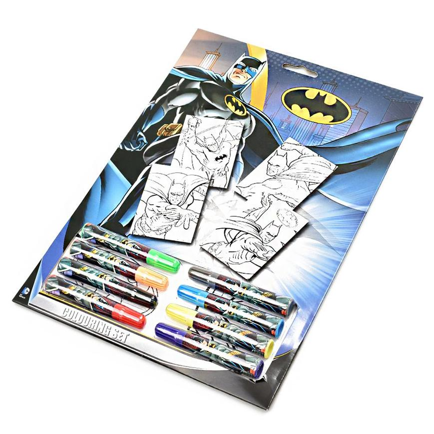 Official Batman Colouring Set with 8 Felt Tip Pens