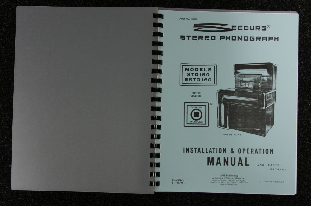 Seeburg - Installation and Operation Manual - Model STD160, ESTD160