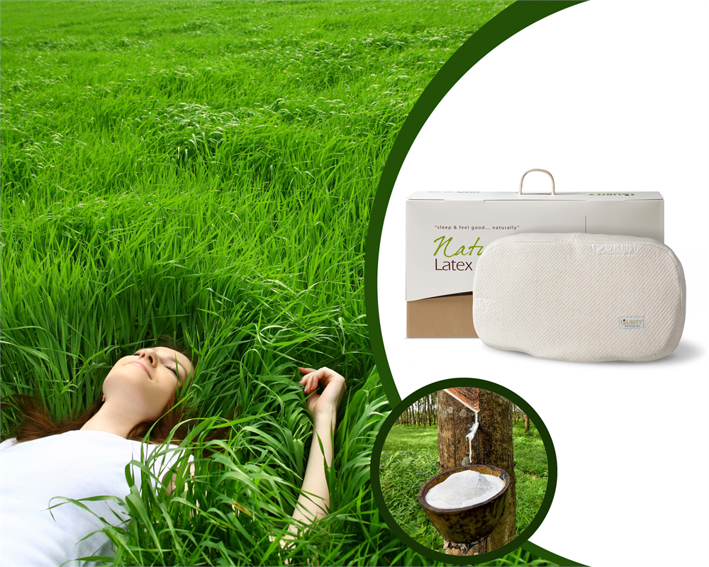 NATURAL LATEX ANATOMIC PILLOW CREAM - 62 X 40 X 14 cm