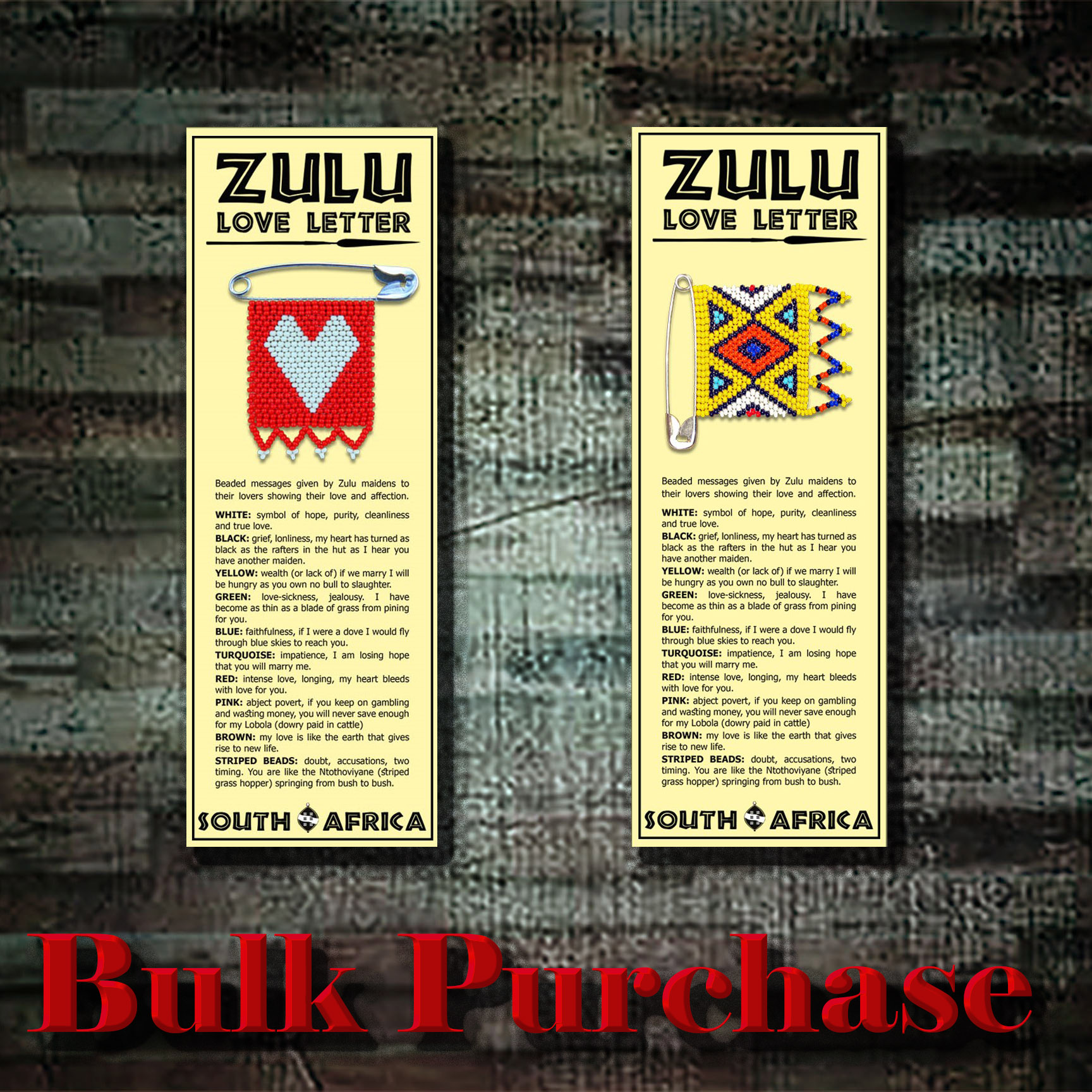 Y9 Zulu Love Letter Bookmarks (Bulk Purchase)