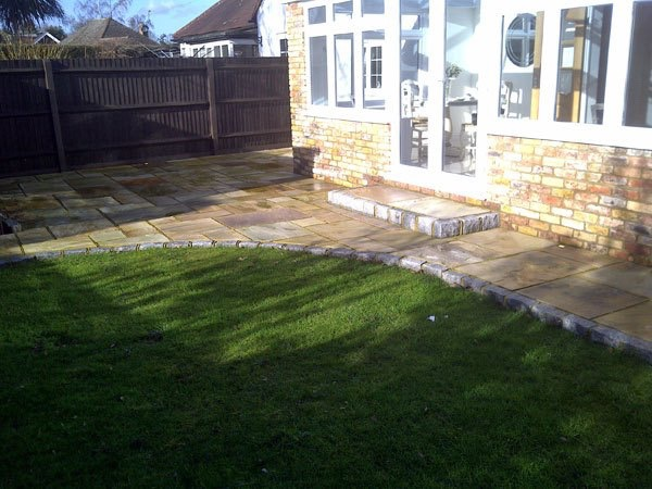 Completed patio in Egham