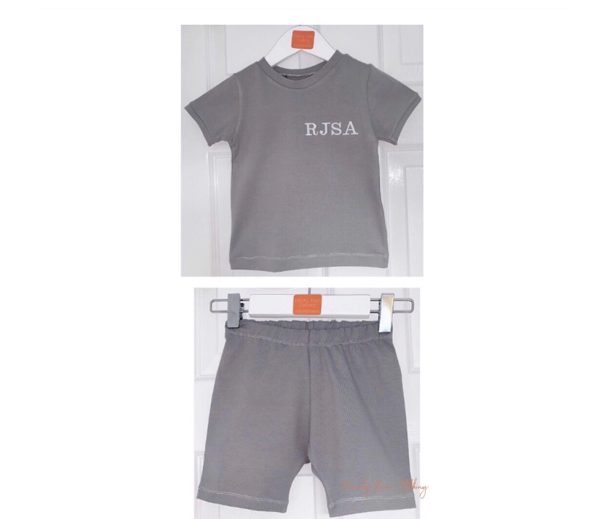 Grey Shorts Set