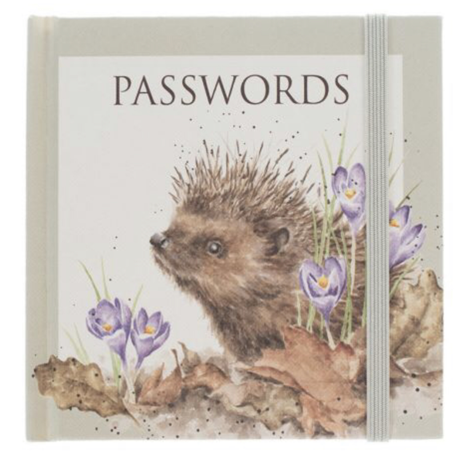 Wrendale Hedgehog Password Book