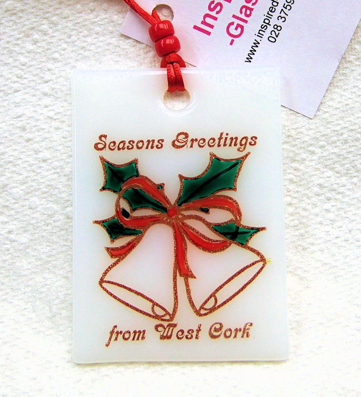 Fused-glass Christmas Decoration - West Cork 'Bells'