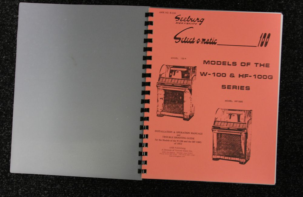Seeburg - Installation & Operation Manual - Models W-100 & HF-100G series