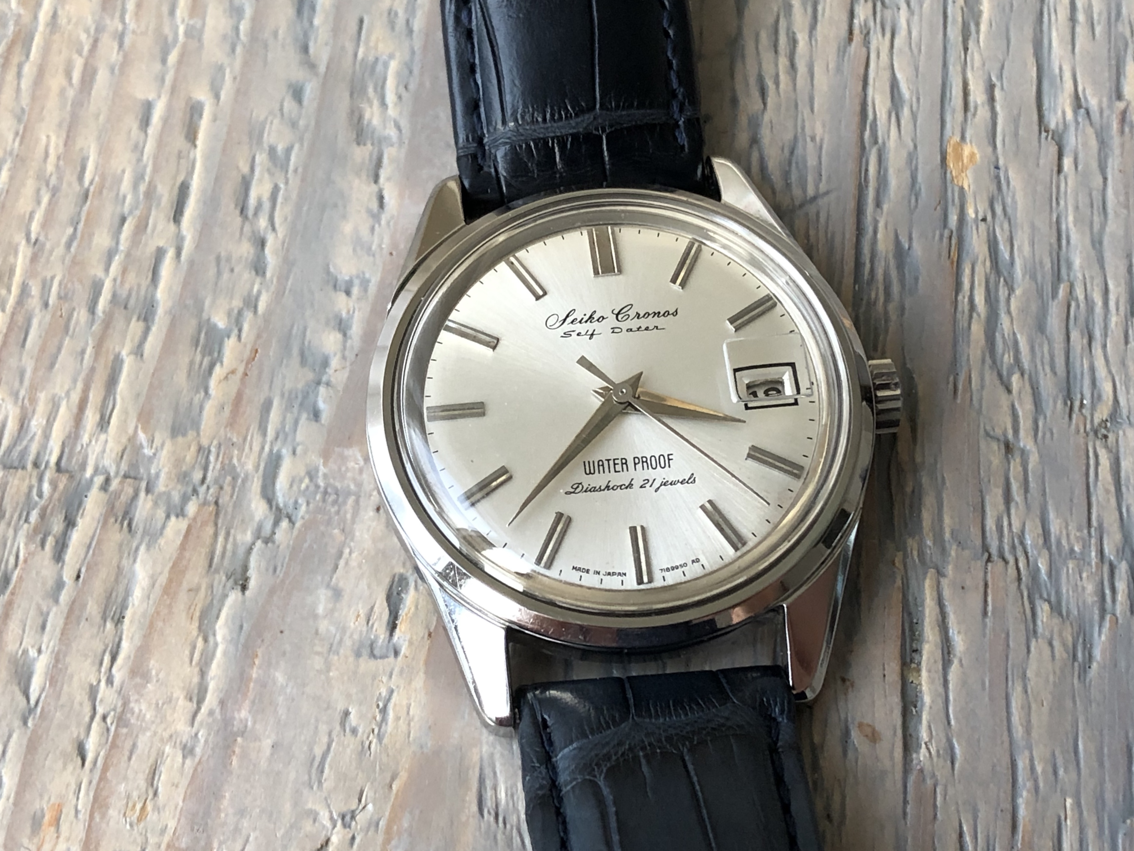 Seiko Cronos 54A (For sale) - not on this croc! Comes with basic strap.