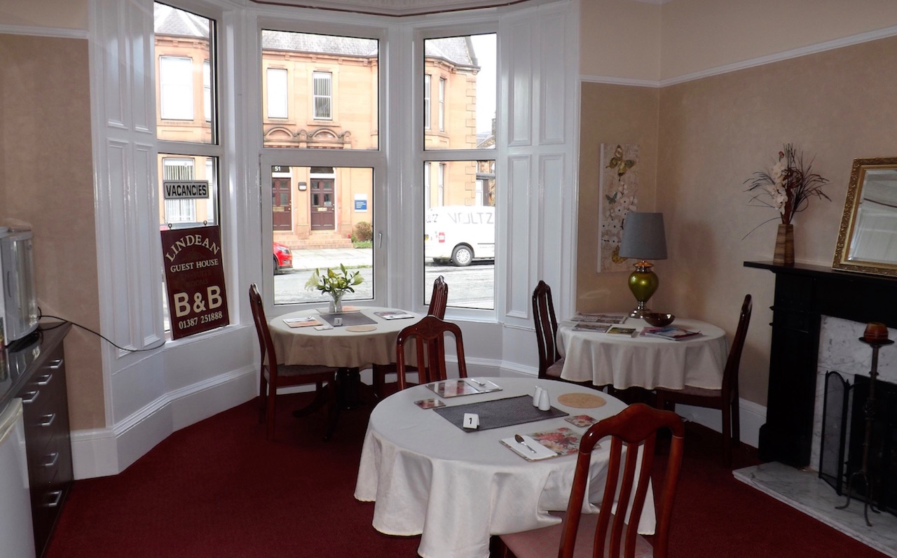 The Breakfast Room at Lindean Guest House
