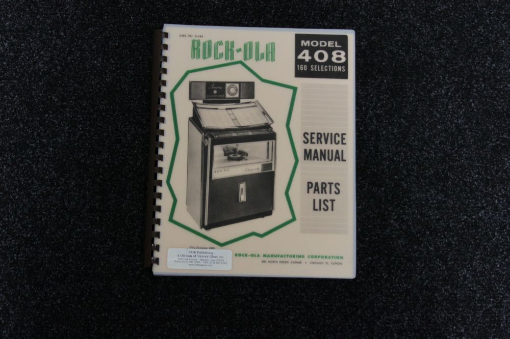 Rock-Ola - Service Manual Parts List model 408