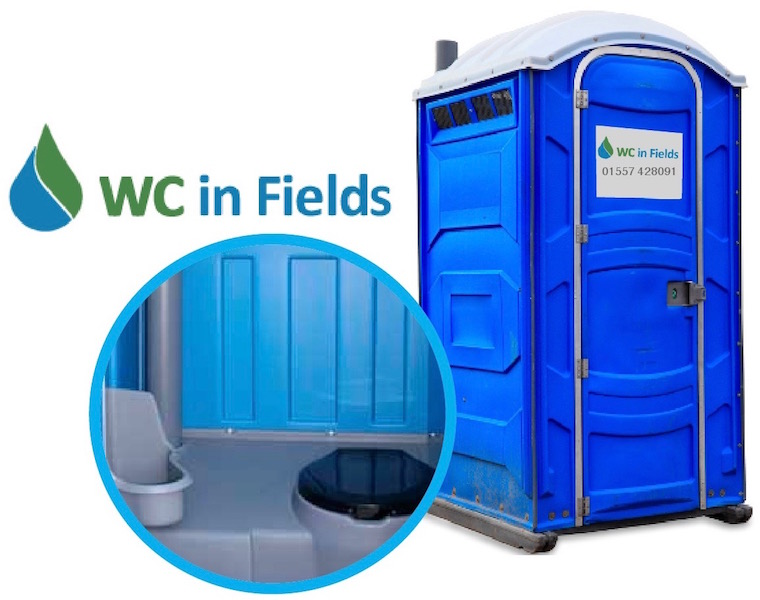 Portable toilet hire Dumfries and Galloway - WC in Fields, Kirkcudright