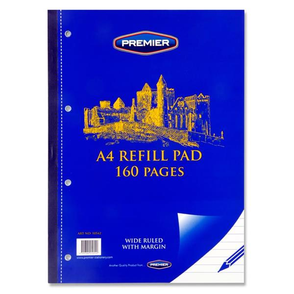 A4 Refill Pad - 160 page Side Bound