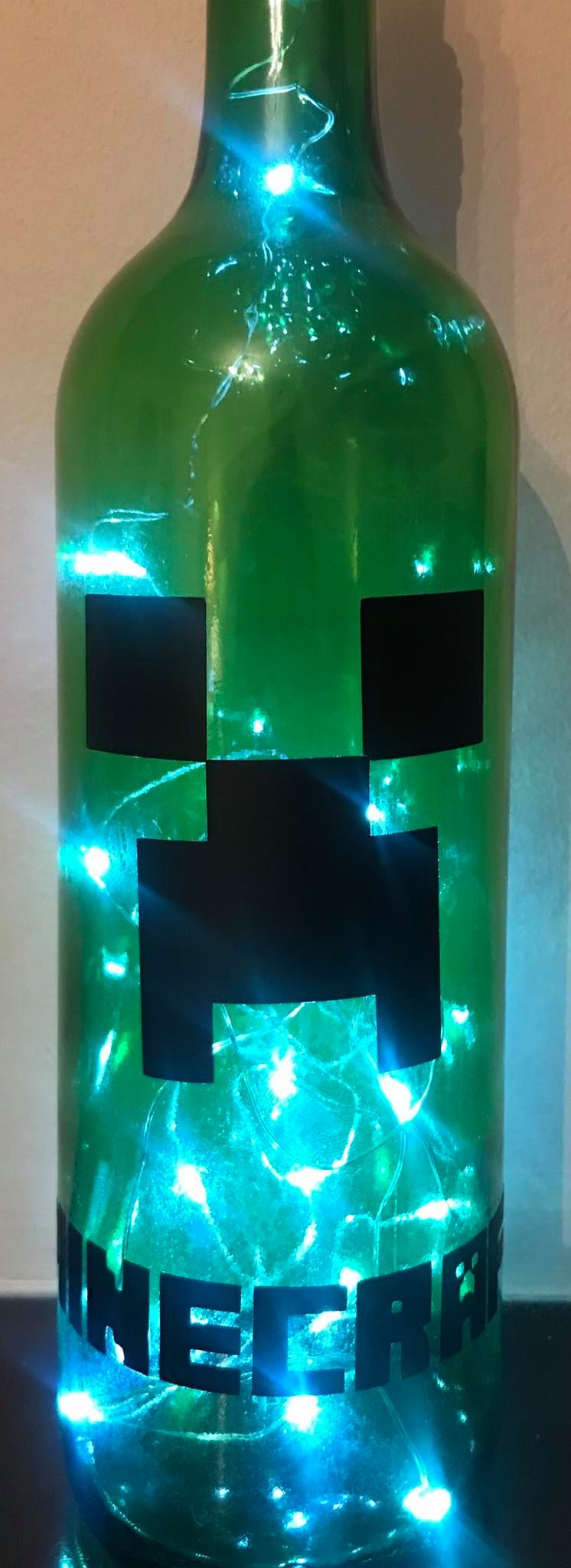 Minecraft Creeper Light Up Bottle