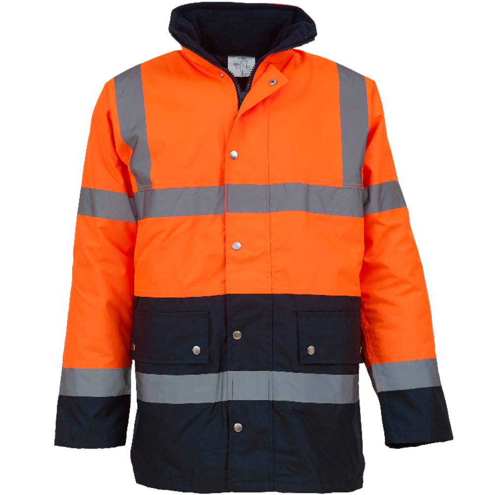 Orange/Navy Hi-Vis Two-Tone Motorway Jacket HVP302