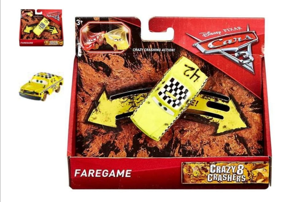 Disney Pixar Cars 3 Crazy 8 Crasher Faregame