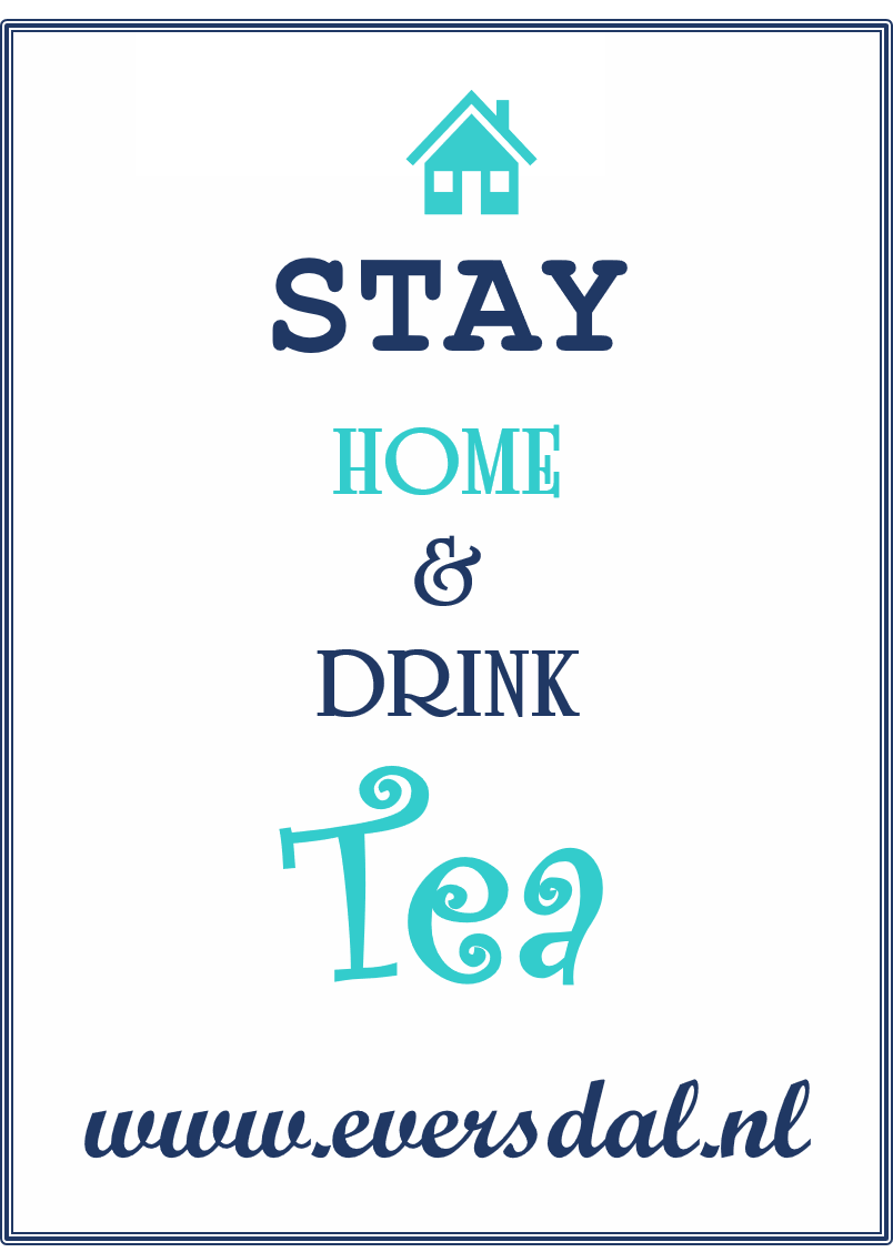 Stay Home & Drink Tea kaart + thee