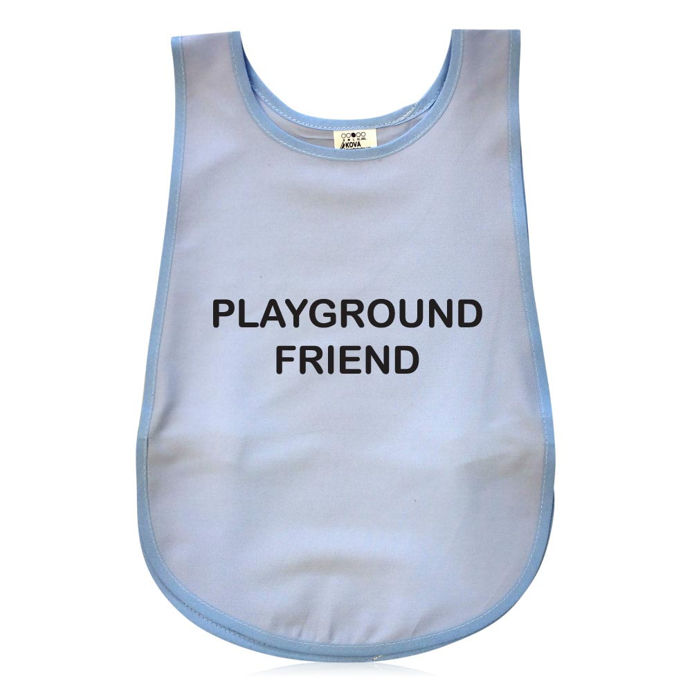 Bell Shape Light Blue Child's Tabard. Printed Playground Friend.