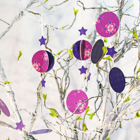 SORRY SOLD OUT - Make your own - Garland KIT - Purple card