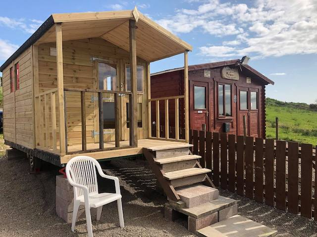 External view of one of the glamping units at Glenquicken