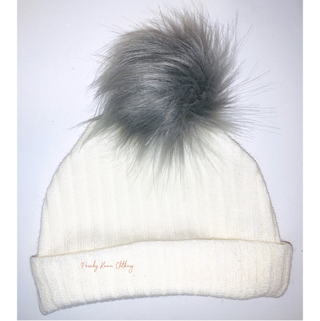 Off White Bobble Hat