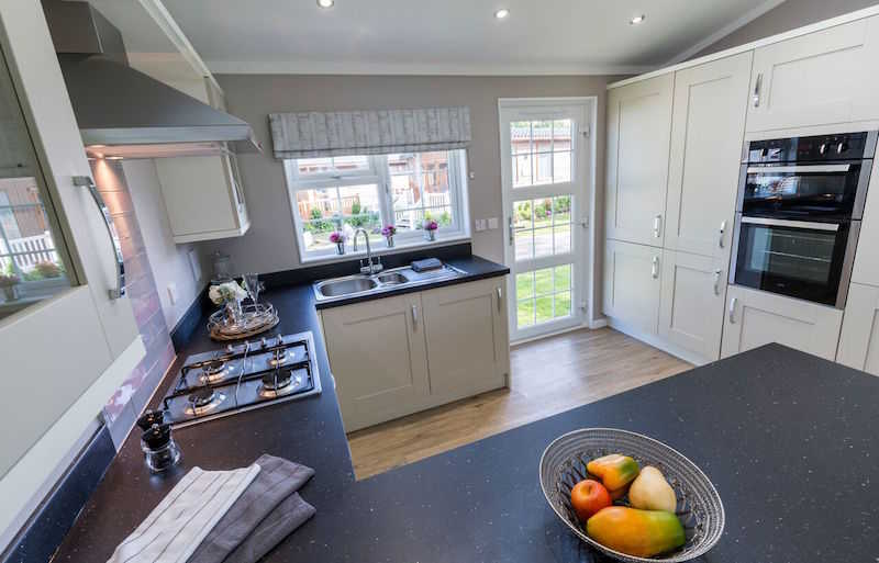 A park home high spec kitchen