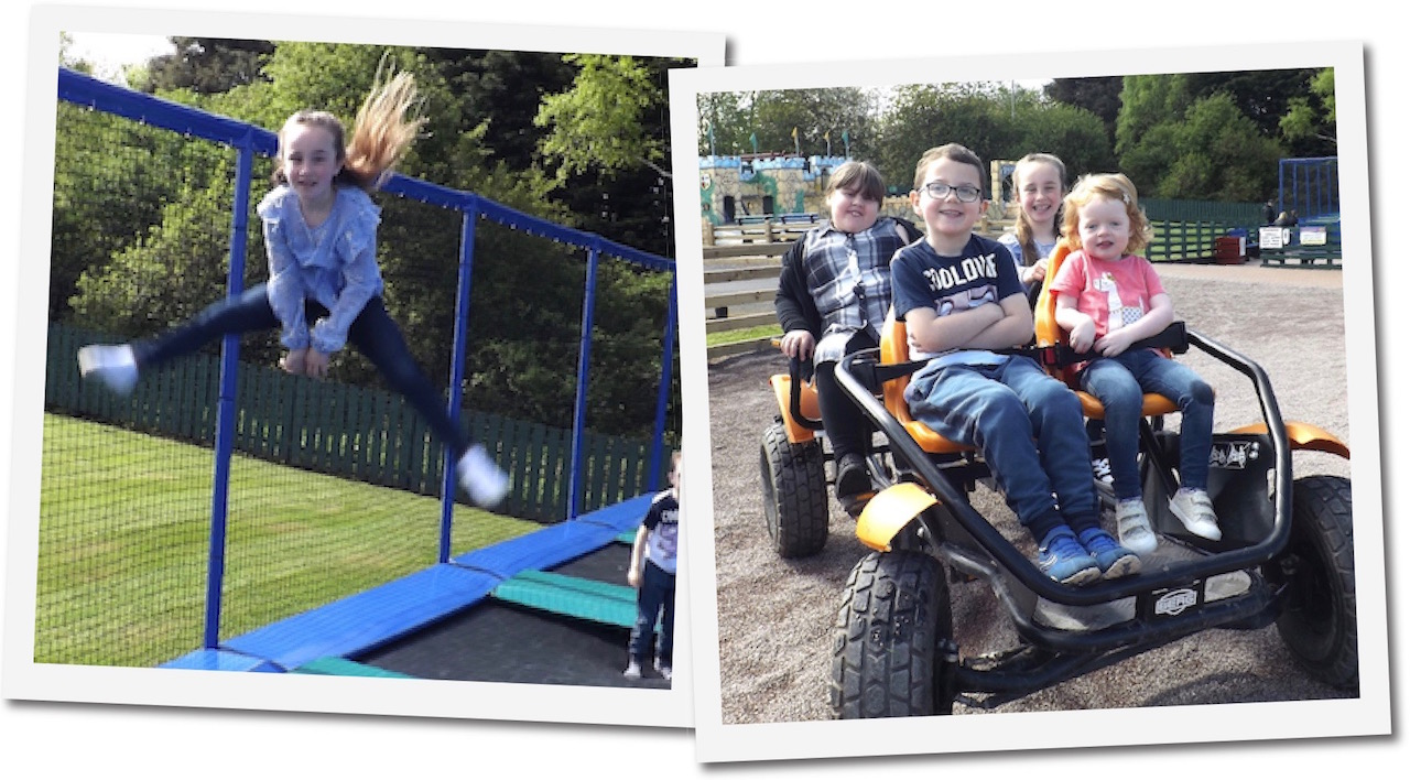 Trampolines and go carts at Dalscone Farm Fun Dumfries