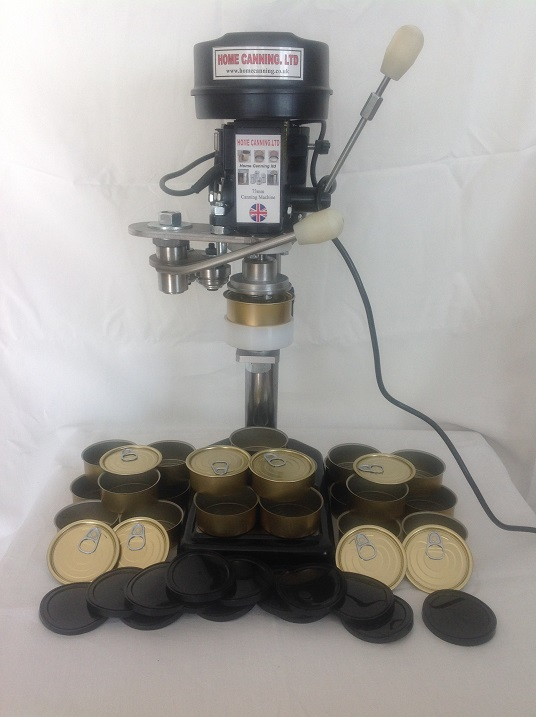 73mm Work-Top Electric Home Canning Machine  + 100 Cans 110mm +  Lids