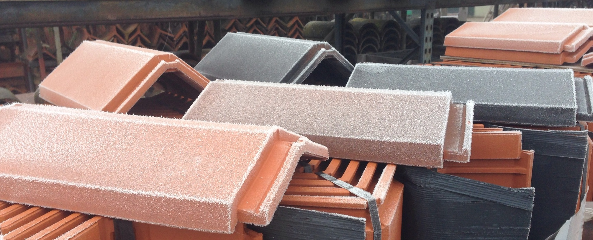 Galex CS ridge tile photo on a cold winters day