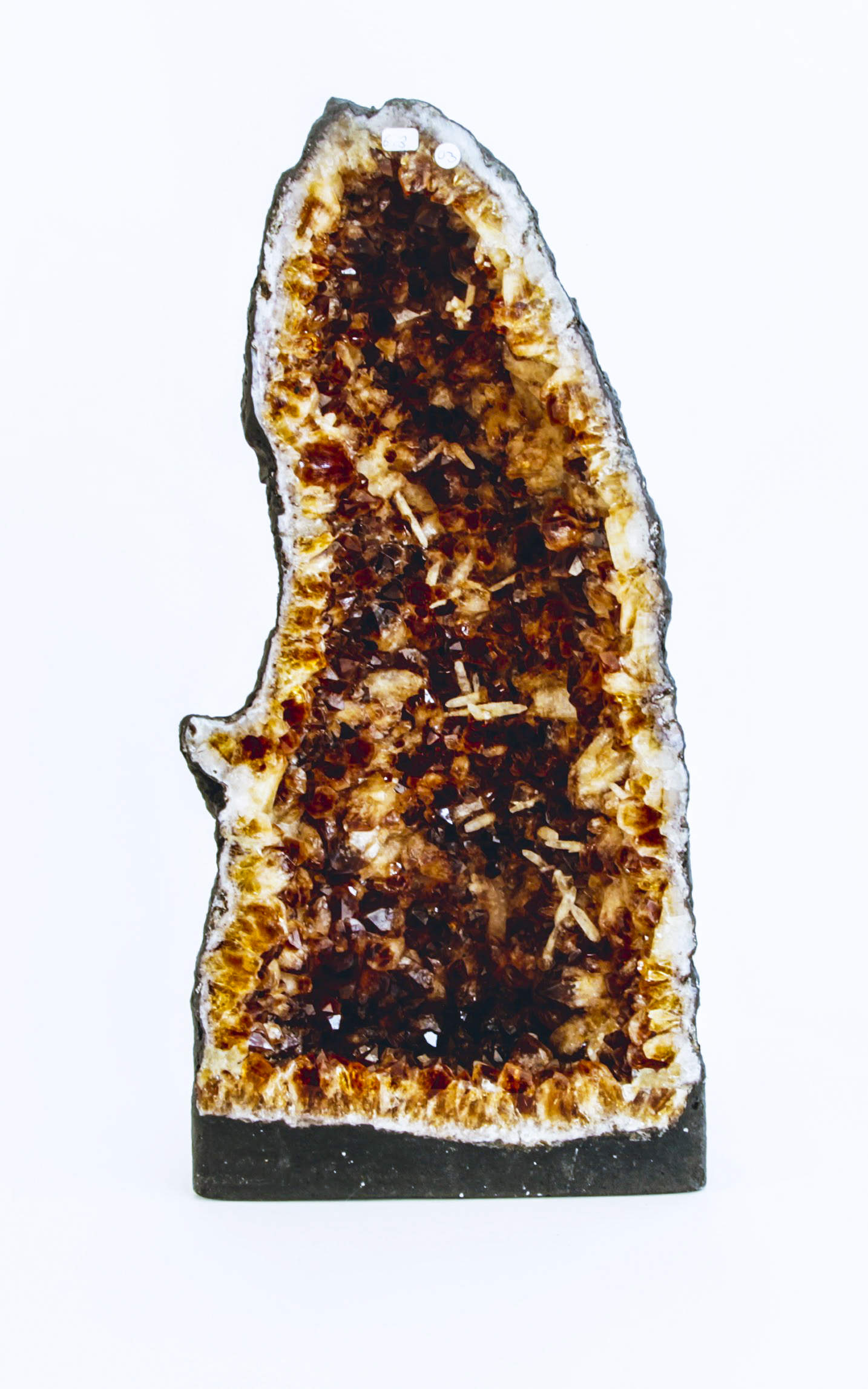 Citrine Geode with Calcite 6.3 kilos