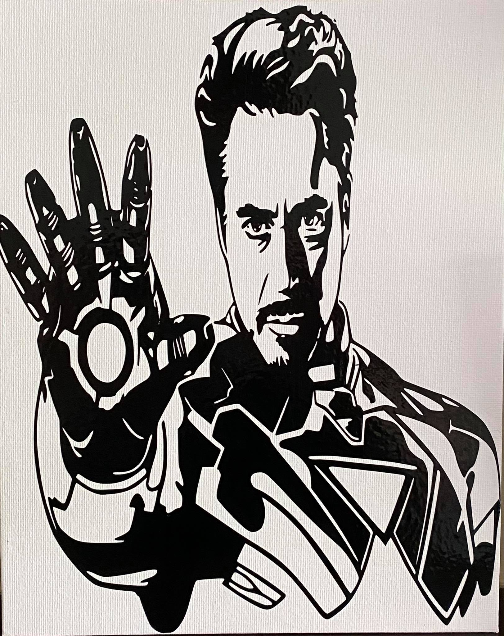 Tony Stark Canvas Board.