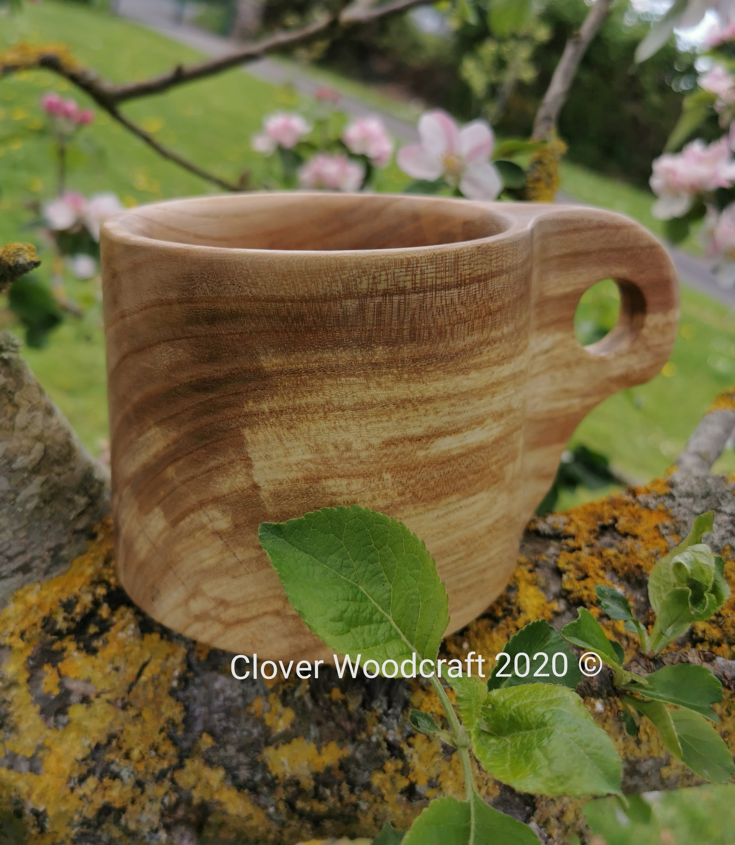 Hand Carved Irish Elm Mug