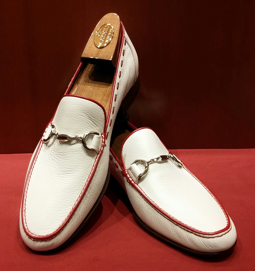 Loafer Model 638 White & Red