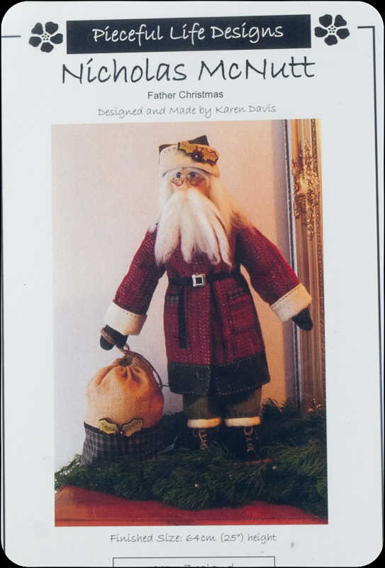 Donegal Tweed by Fabric Affair: Nicholas McNutt Father Christmas Kit.