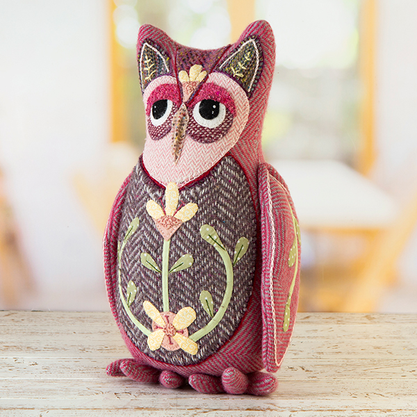 Donegal Tweed by Fabric Affair: Mabel The Owl Doorstop Kit.