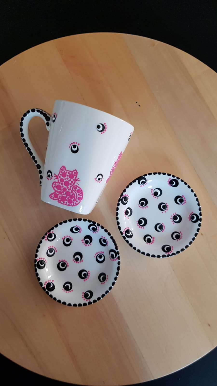 Dots and Cats Pink