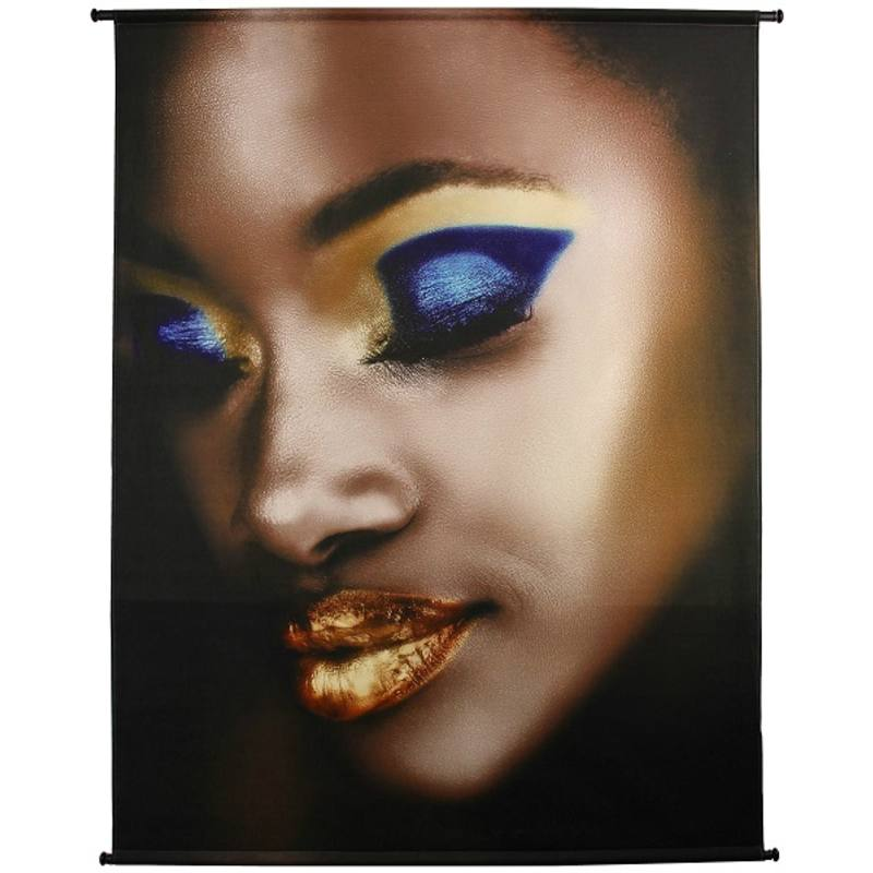 Wandpaneel, velvet, Lady Make-Up Gold, 170x3x140 cm