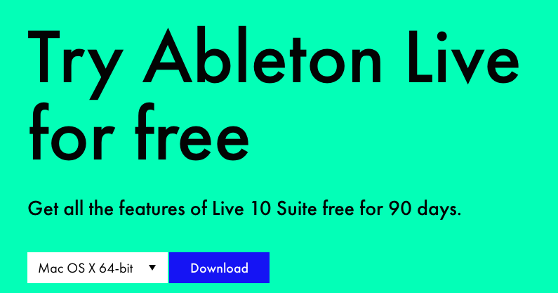 want to try Ableton Live for free?