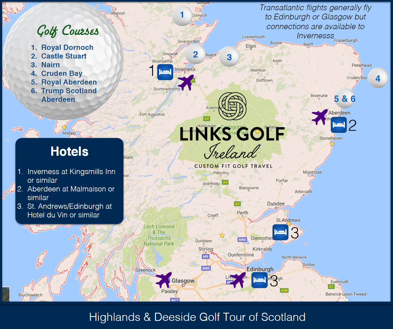 Nairn Scotland Map.The Best Golf Courses To Play In The Highlands Including Royal Dornoch