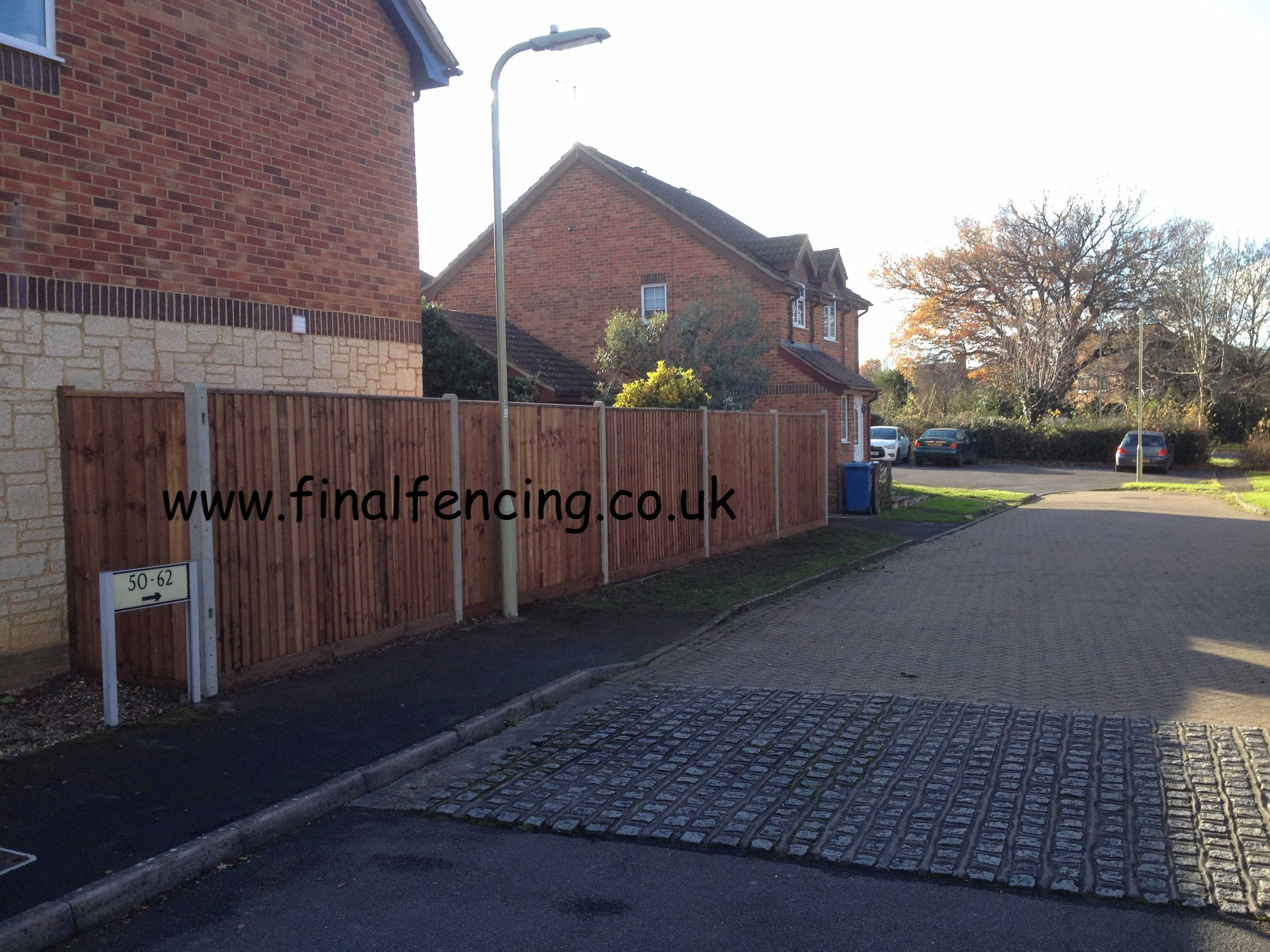 1.95M H closeboard fencing Church Crookham Capped Timber gravels